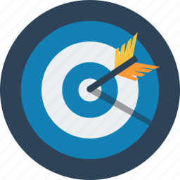 business, chart, financial, marketing, mission, target icon