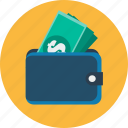 cash, control, currency, dollar, finance, money, wallet icon