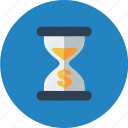 alarm, clock, dollar, money, time, timer, watch icon
