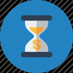 alarm, clock, dollar, money, time, timer, watch icon