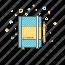 organizer, planner, task list, pen icon