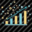 banking, blocks, business, diagram, finance, growth, scheme icon