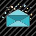 banking, business, envelop, finance, open envelop icon
