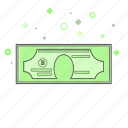 banking, business, dollar, finance, green, paper money icon