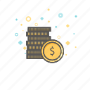 business, coins, finance, gold, money icon