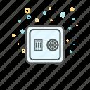 banking, business, deposit, safe box, savings icon