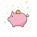 banking, business, finance, piggy, savings icon