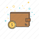 banking, business, coin, dollar, finance, money, wallet icon