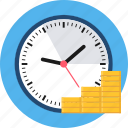 clock, duration, money, payment, period, time, time is money icon