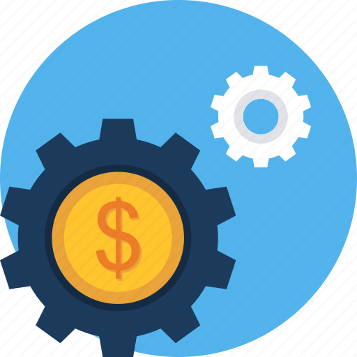 configuration, dollar, gear, options, preferences, setting, settings icon