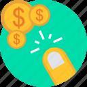 click, pay, pay per click, ppc, search, seo, web icon