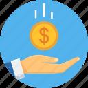 cash, cashback, funding, funds, money, returns, save icon