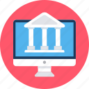 bank, banking, design, financial, institution, stock house, treasury icon