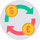 convert, currency, exchange, forex, money, trade, trading icon