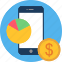 analytics, bar, chart, finance, graph, money, pie icon