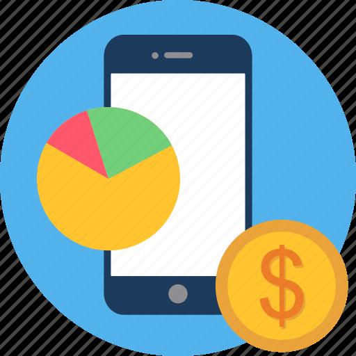 analytics, bar, chart, finance, graph, money, pie icon