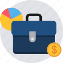 business, finance, money, office, portfolio, revenue icon