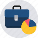 analysis, bag, bar, business, money, pie, portfolio icon