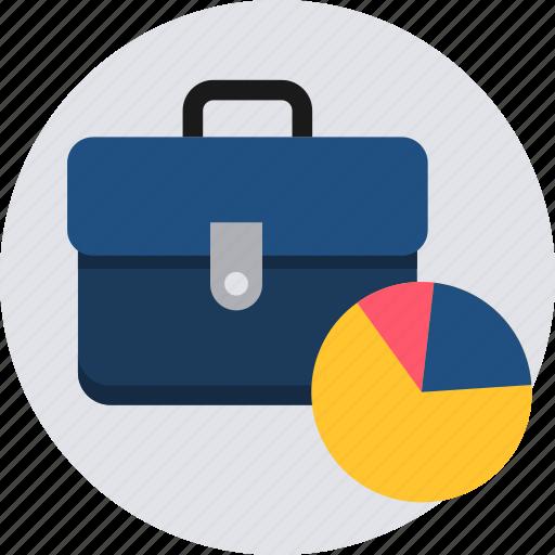 analysis, bag, bar, business, money, pie, portfolio icon