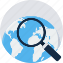 global, magnifier, magnifying, optimization, search, seo, zoom icon