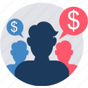 account, avatar, income, officers, tax, taxation, users icon