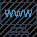 computer, internet, monitor, online, web, www icon