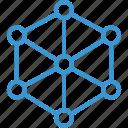 analytics, analyze, cube, data, internet, onlien, server icon