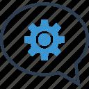analytics, analyze, chat, data, options, setup, talk icon