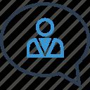 bubble, chat, family, friend, member, profile, user icon