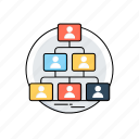 company structure, organization chart, team hierarchy, team management icon