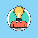 bright idea, creative mind, creativity, intelligence, personal idea icon