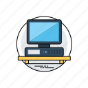 computer, desktop computer, early personal computer, ibm pc, ibm personal computer icon