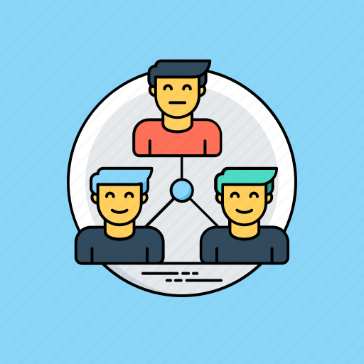 company structure, group, leadership, organization, team hierarchy icon