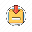 incoming mail, mailbox, project inbox, project mail, project management icon