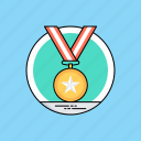 achievement, gold medal, medal awards, passion for winning, star medal icon