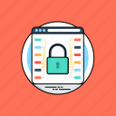 cryptography, cybersecurity, data protection, data security, web encryption icon