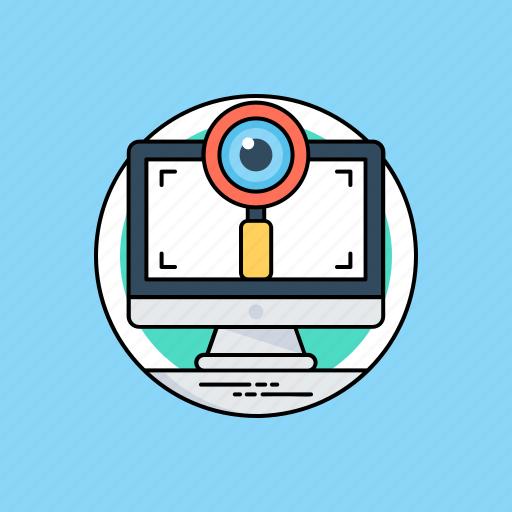 data analyzer, data monitoring, data optimization, system monitoring, web visibility icon