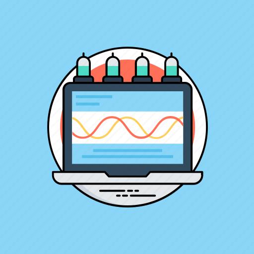 data analyzing, data management, data processing, data transferring, data transformation icon