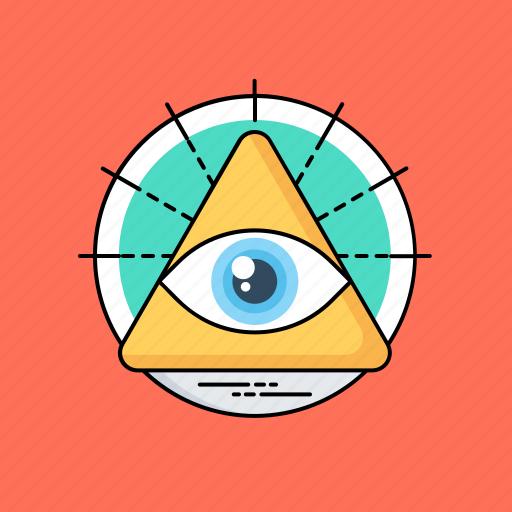 all-seeing eye of god, divine providence, eye of providence, masonic eye, occultism icon