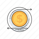 cost of investment, financial management, net profit, return on investment, roi icon