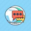community network, global communication, global forum, multilingual, worldwide communication icon