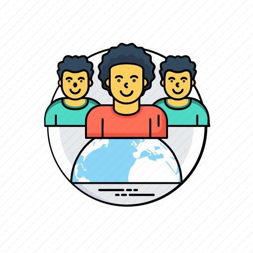 global team, group, people, team icon