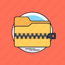 archives, compressed folder, computer folder, file storage, zip folder icon