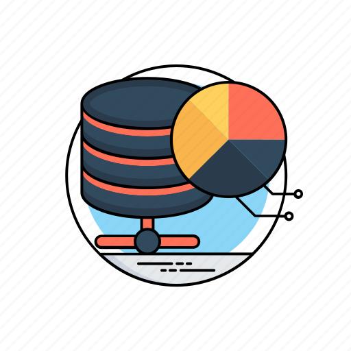 big data, data mining, database analytics, database management, server hosting icon