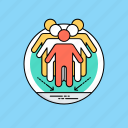 collaboration, cooperation, synergy, team diversity, teamwork icon
