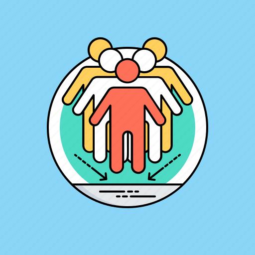 collaboration, cooperation, synergy, team diversity, teamwork icon