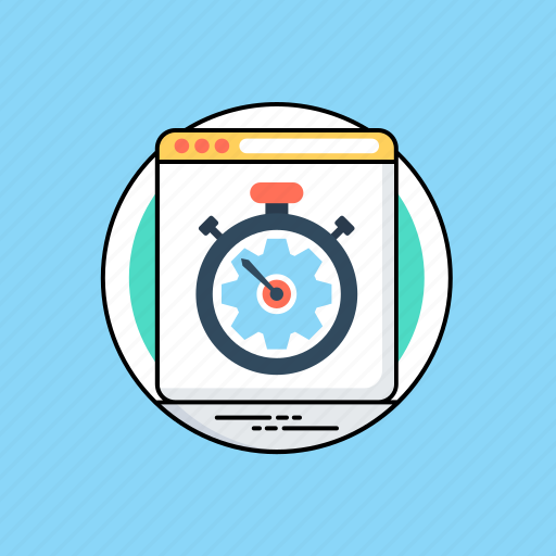 fast processing, page load tester, page speed performance, web performance, web speed test icon