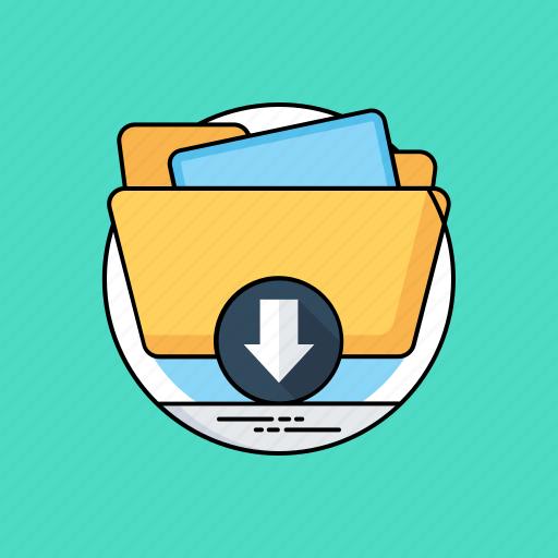 archives, backup, data downloading, data transformation, folder download icon
