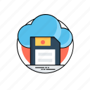 cloud backup, cloud sd card, cloud storage, digital storage, save to cloud icon