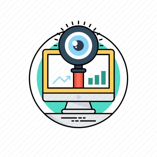 seo optimization, system analyzer, system monitoring, web visibility, website performance icon
